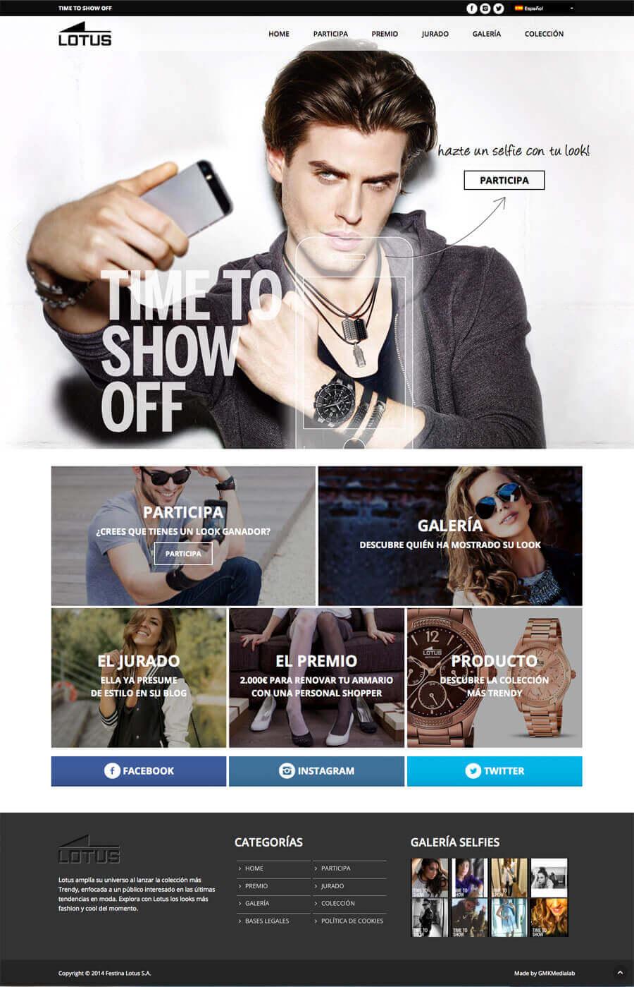 Diseño web y desarrollo web Lotus Selfie